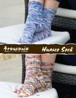 2 pairs of womens socks knit in Huasco Sock yarn