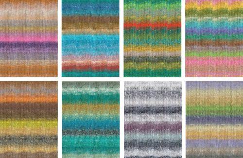 Noro Silk Garden Sock colors 450, 459, 461, 463, 467, 470, 471, 475