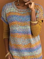 Raelynn Top knit in Ella Rae Marmel yarn