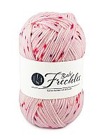 Skein of EYB Babe Freckles yarn