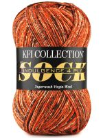 skein of KFI Indulgence Sock 4-ply yarn