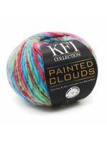 skein of KFI Painted Clouds yarn