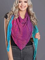 Painted Lace Triangular Shawl pattern from skein label